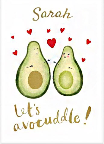 Cute Avocado Card