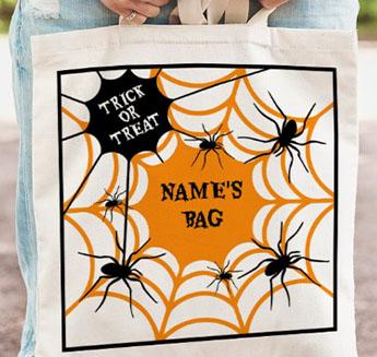 halloween personalised tote bag